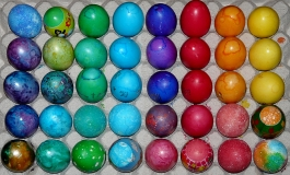 colorful painted eggs