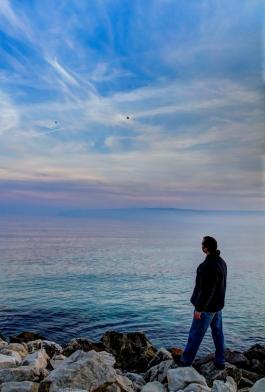 pink-blue sea