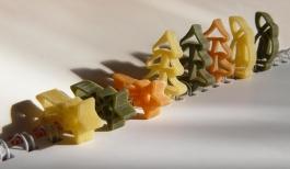 macaroni christmas figures