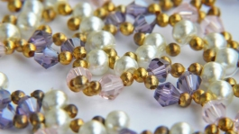 pearls, glass and seed beads necklace bracelet set