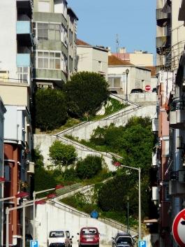 zigzag stairway