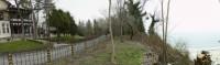 тук преди две години имаше дървета и храсти, които укрепваха склона преди да падне