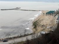 по нанесения пясък си личи докъде са стигали вълните